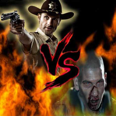 12 Epic TV Monster Battles - Rick Grimes Vs Zombie Shane 1