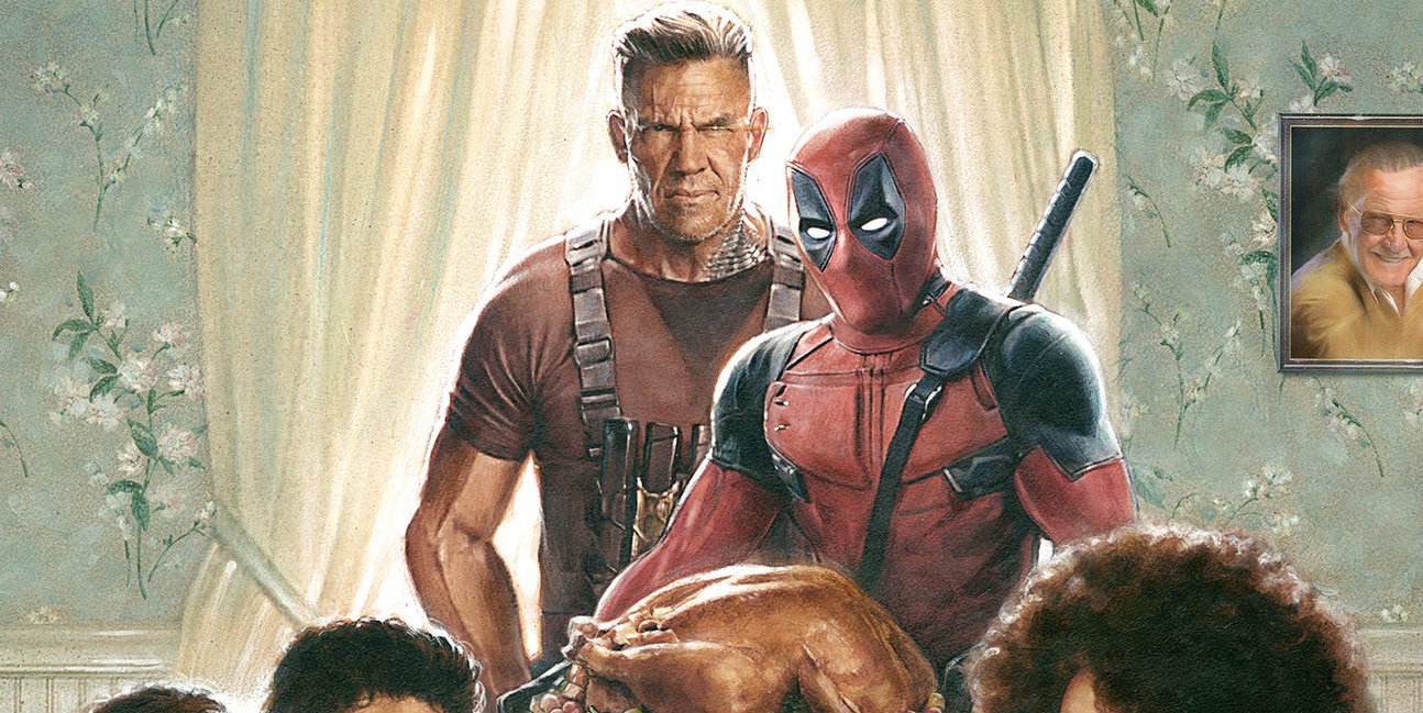 Deadpool 2 posters get in the thanksgiving spirit for Christmas movies on cable tv tonight