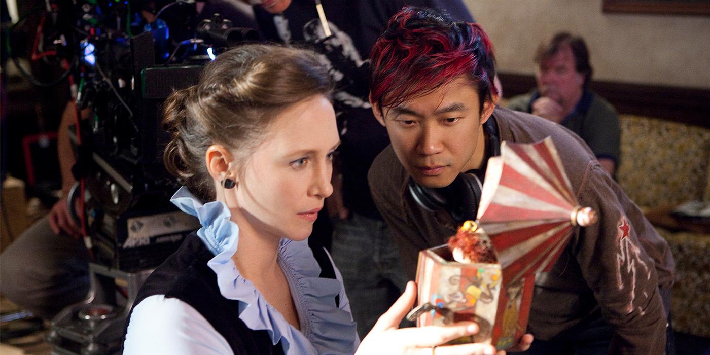 James Wan directing Vera Farmiga in The Conjuring