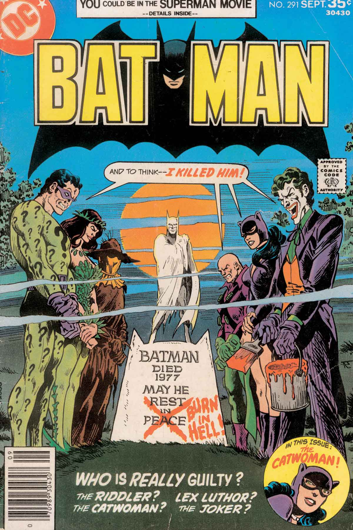Best Book Cover All Time : Greatest batman comic book covers of all time