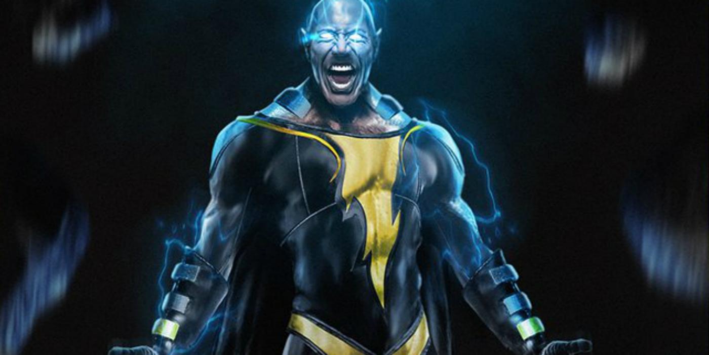 Dwayne The Rock Johnson as Black Adam in Shazam banner