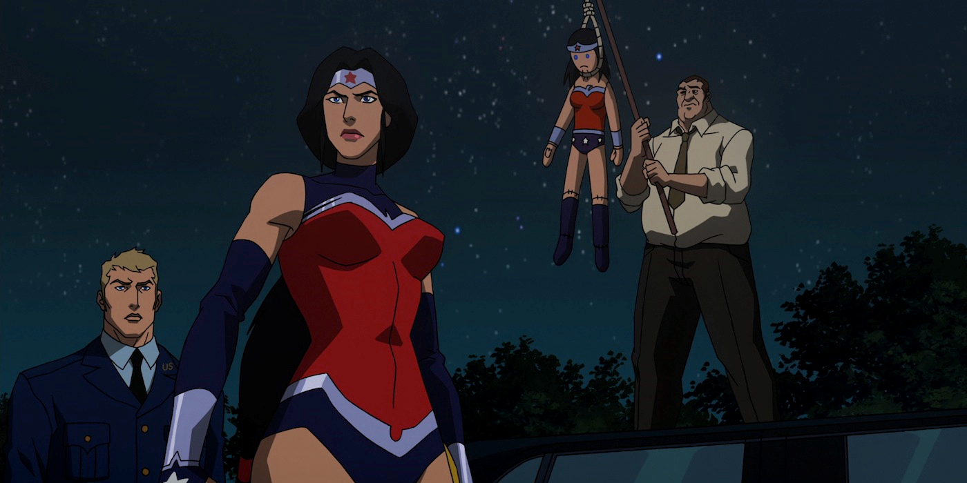 Has Wonder Woman's suit from JL: War ever make an ... |Wonder Woman Justice League War