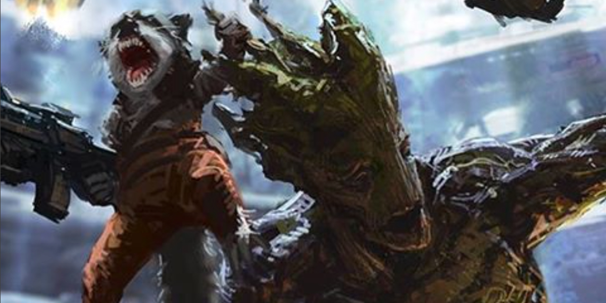 Guardians of the galaxy concept art reveals early groot design