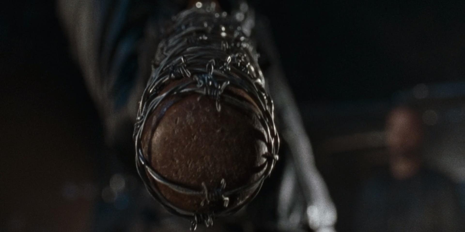 1 Walking Dead Negan holding Lucille Season Six Cliffhanger version 2 The Walking Dead Season 7 Premiere Was Planned for 2 Years