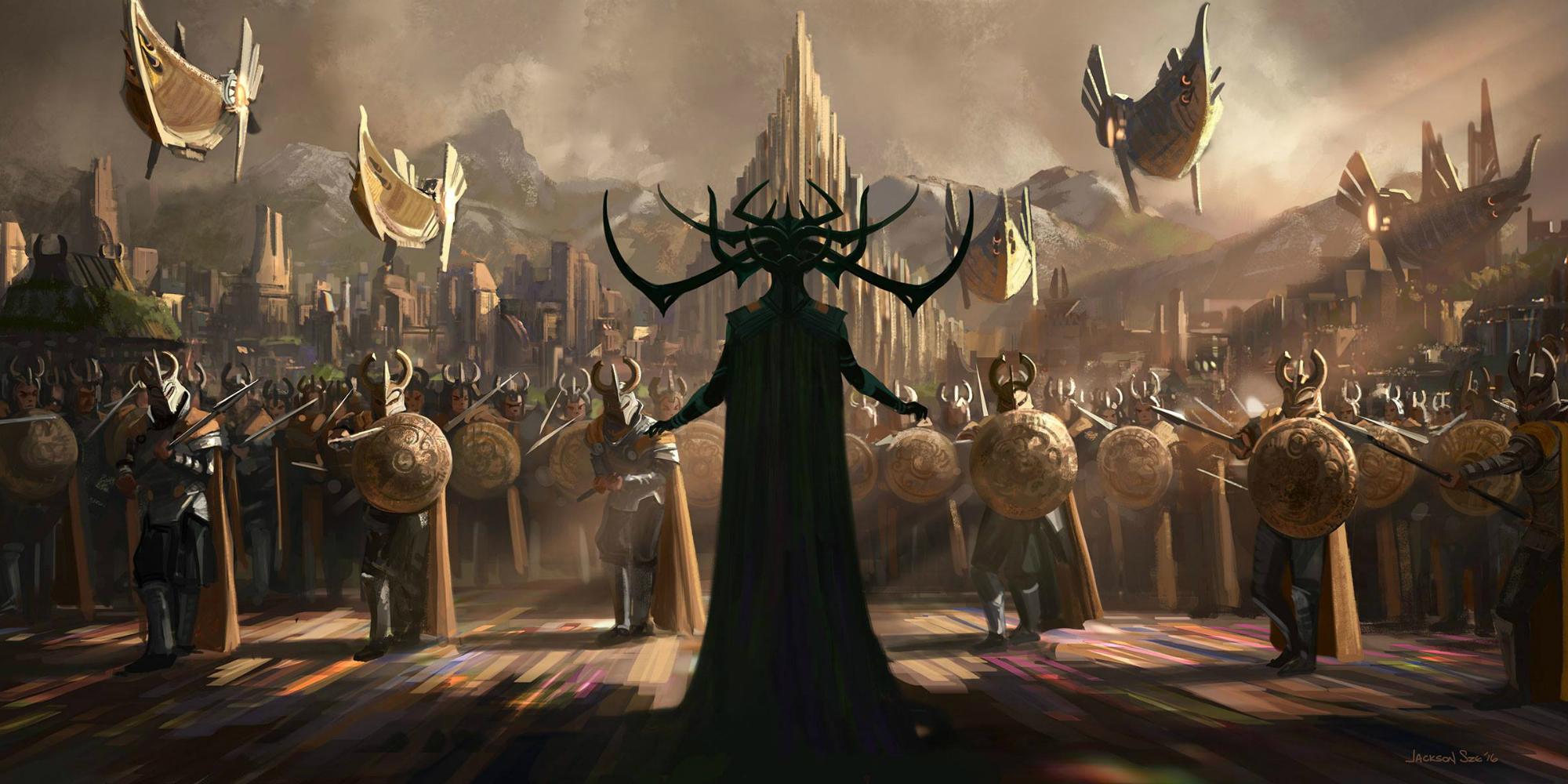 Hela concept art for Thor Ragnarok