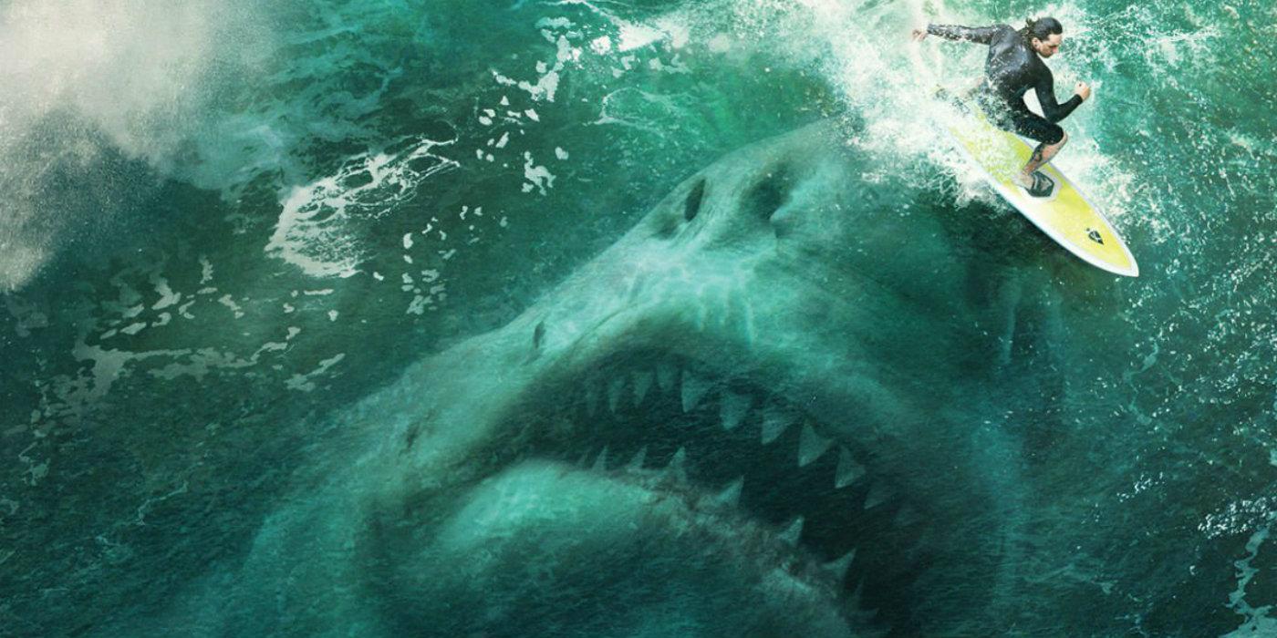 Meg First Look At Jason Statham V Shark