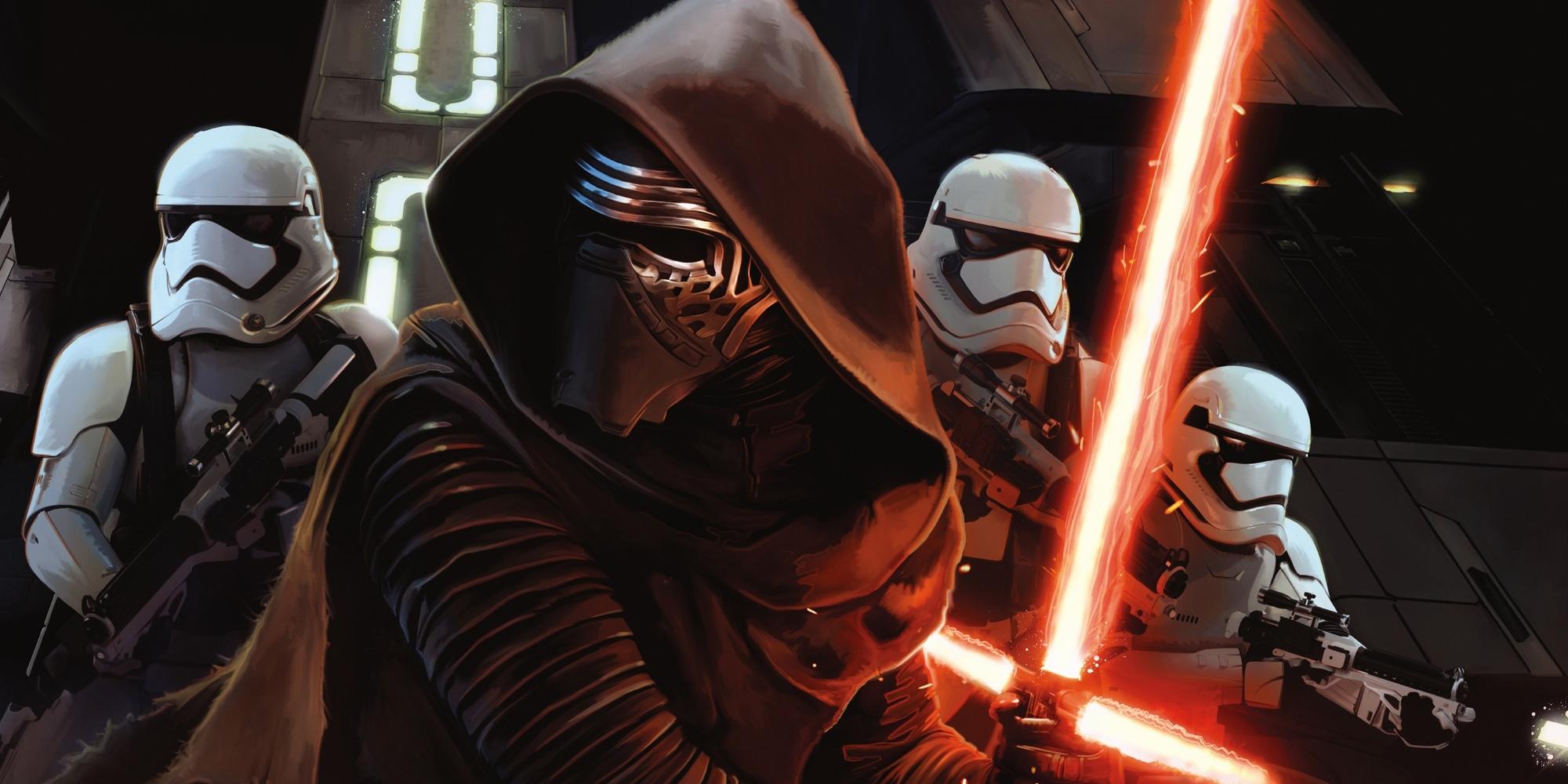 Star Wars Force Awakens Kylo Ren Stormtroopers Artwork