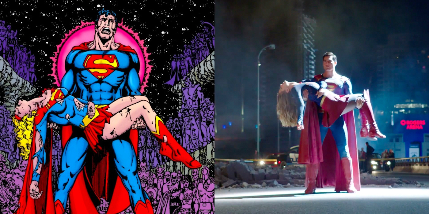 Supergirl Gets a Crisis on Infinite Earths Homage Poster