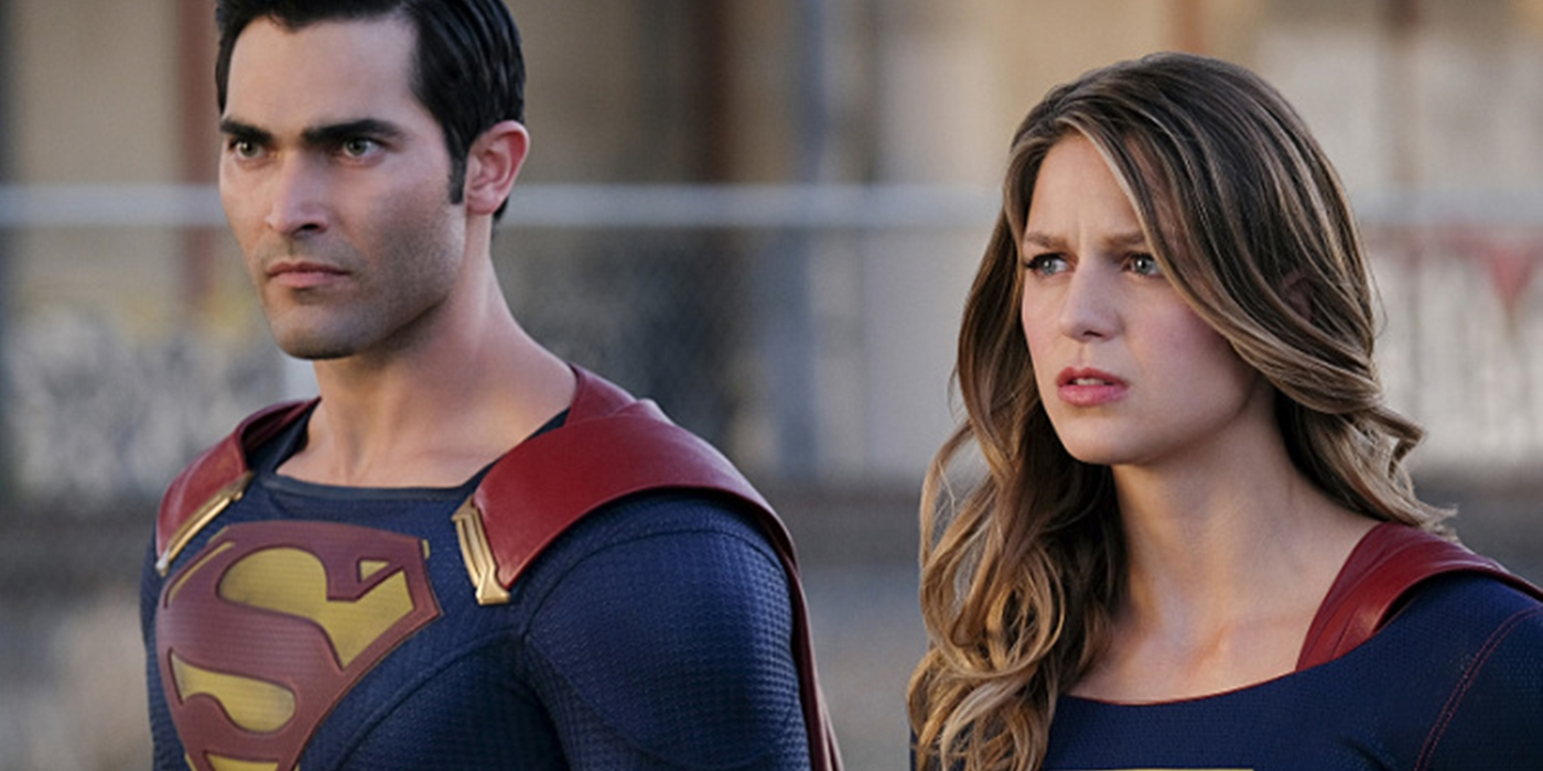 Superman and Supergirl on Supergirl