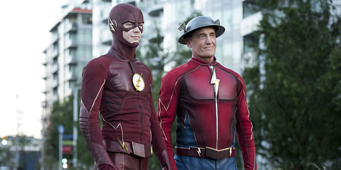 The Flash Paradox Review Grant Gustin John Wesley Shipp