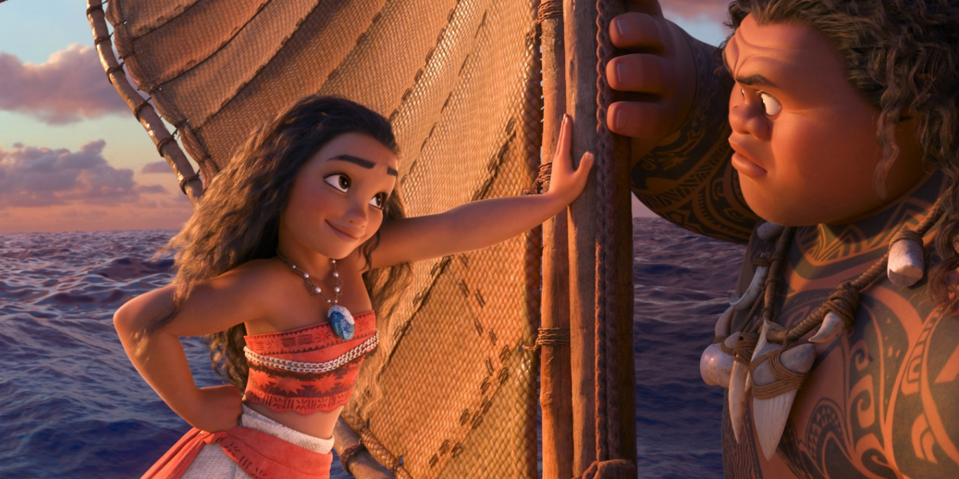 Moana Clip & TV Spot: Maui, Monsters & Adventure Awaits