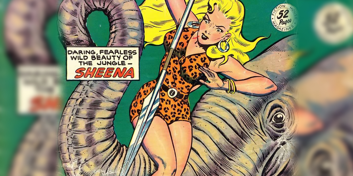 Sheena, queen of the jungle - no. 7 cover art