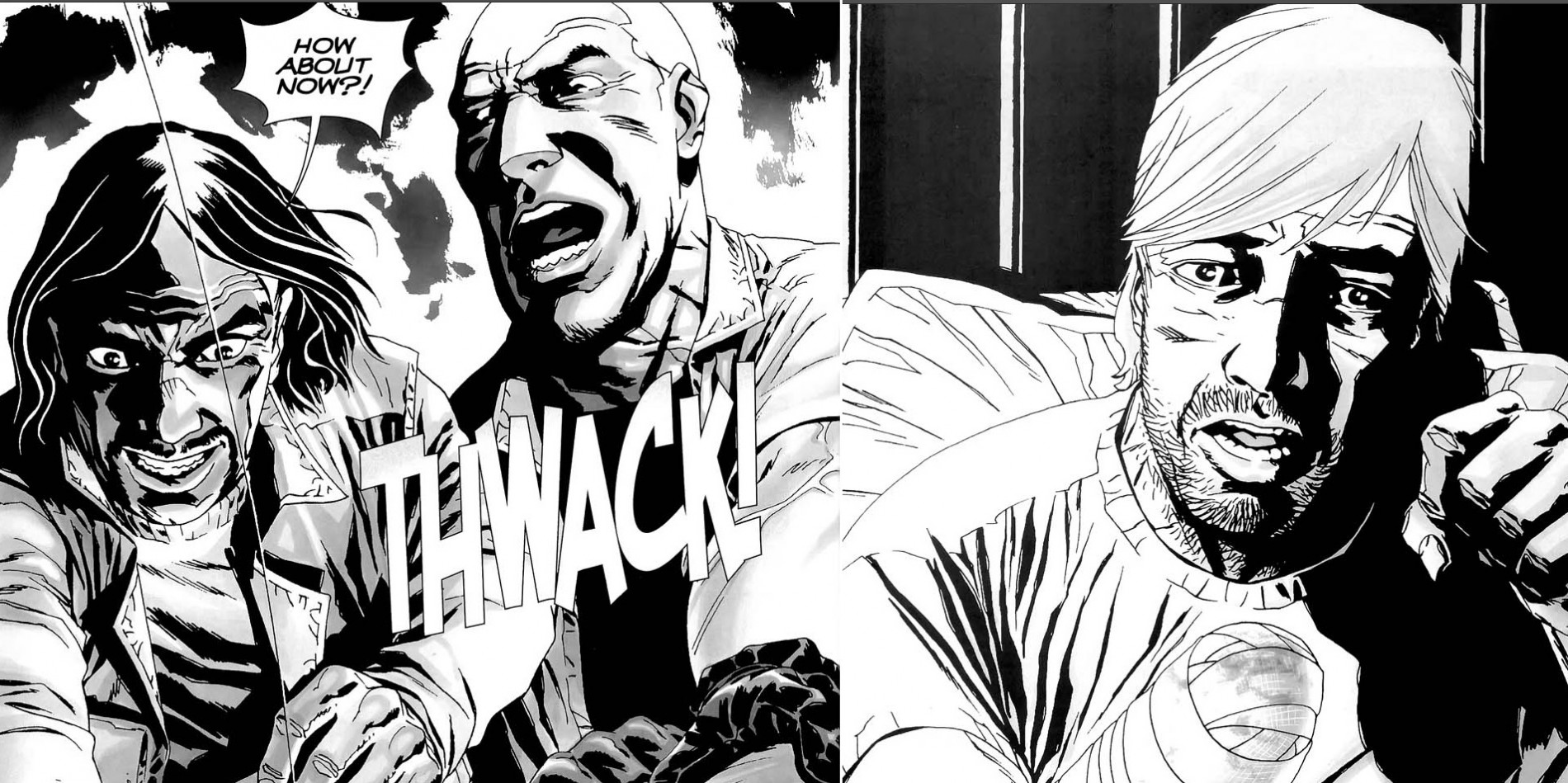 The Governor cuts Rick's hand off in The Walking Dead comic