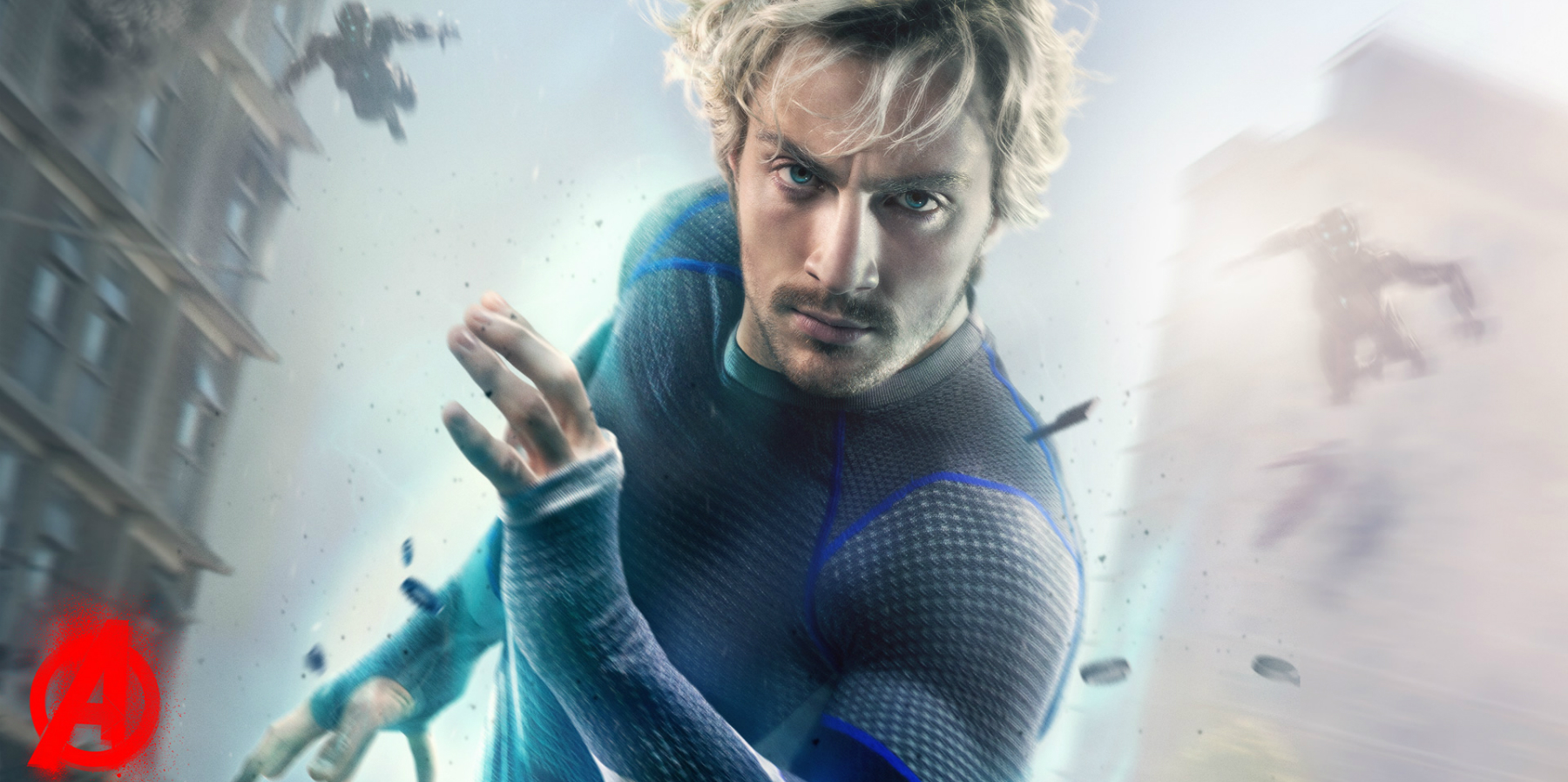 Aaron Taylor-Johnson Quicksilver poster for Avengers Age of Ultron