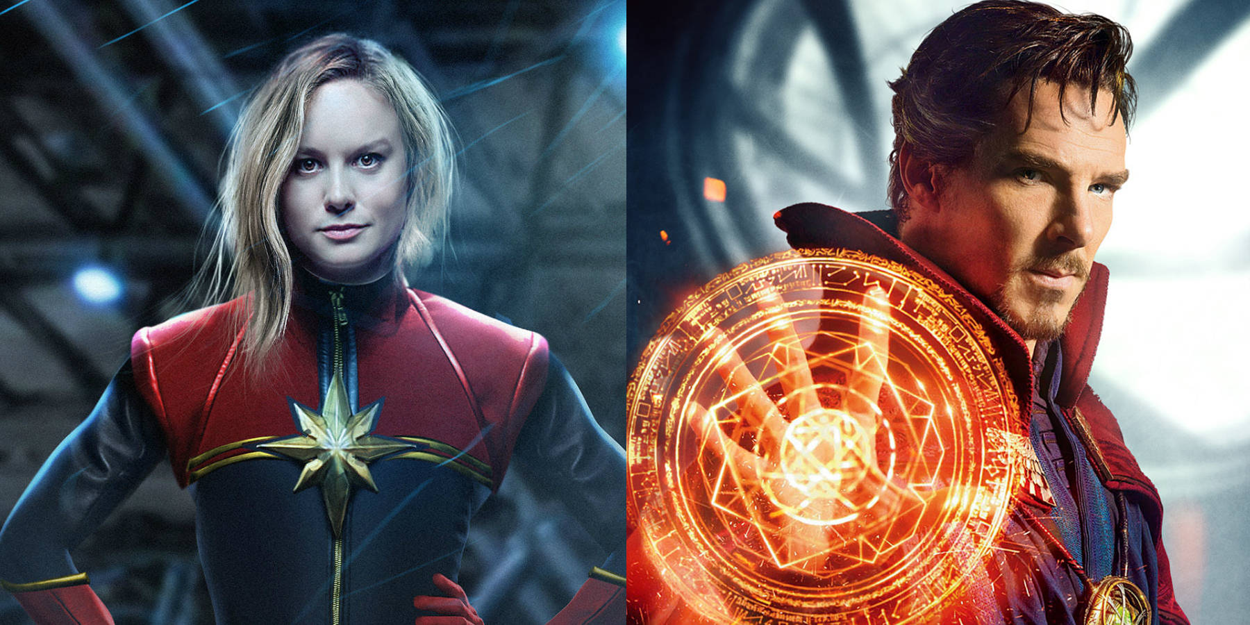 Captain Marvel and Doctor Strange