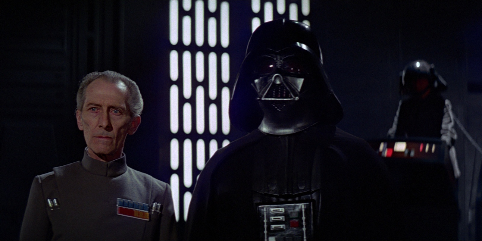 Darth Vader and Tarkin in Star Wars