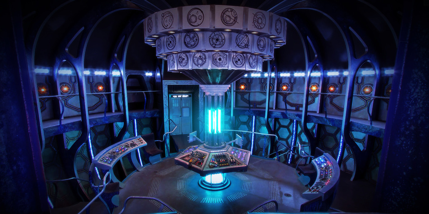 Inside the TARDIS from Doctor Who
