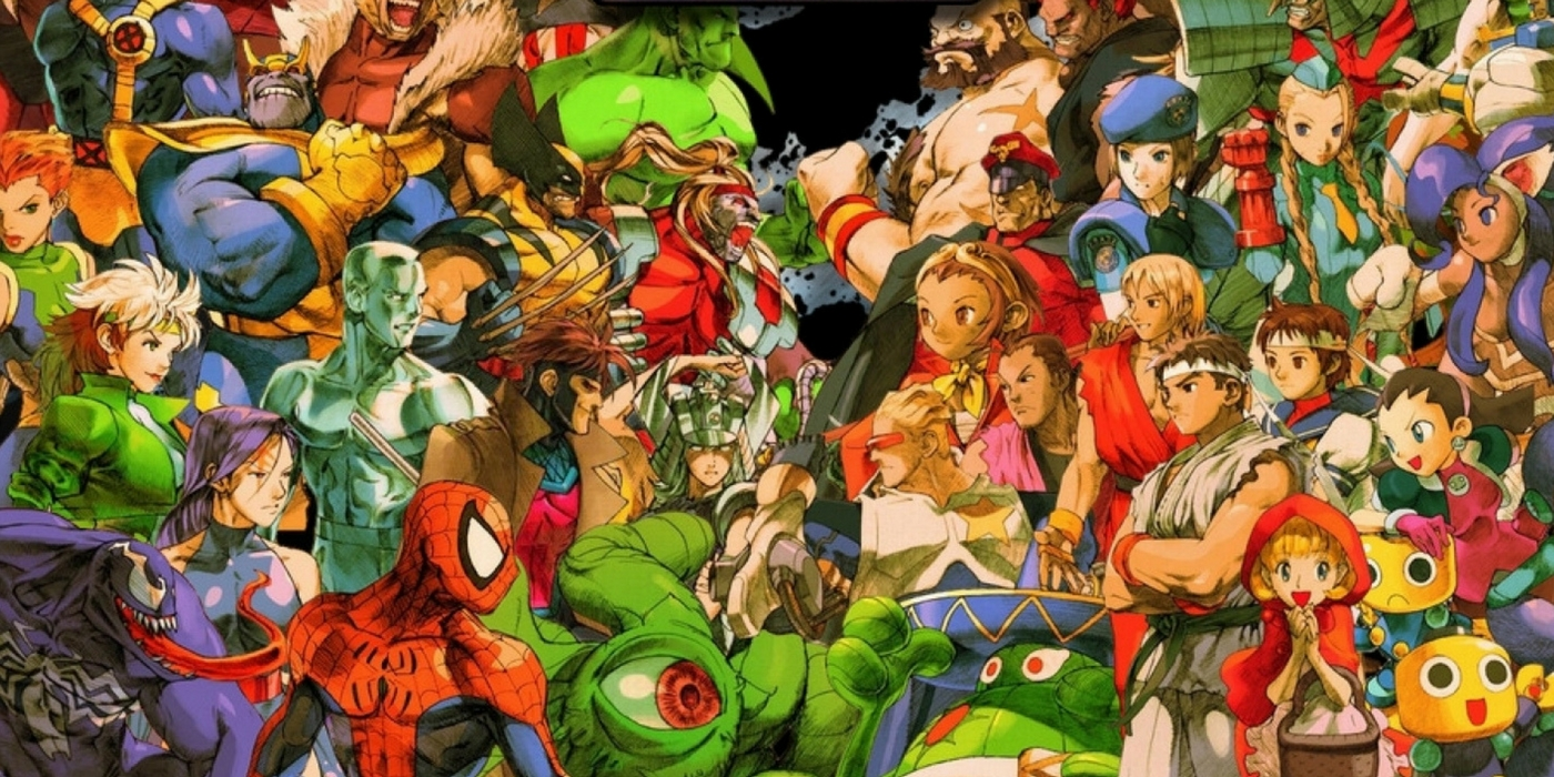 Marvel vs Capcom 2 - group spread