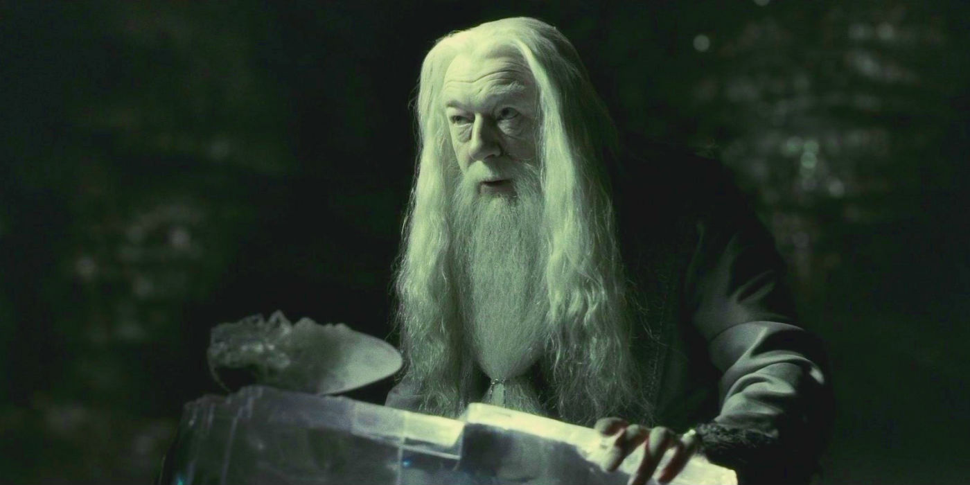 Harry Potter - Michael Gambon as Albus Dumbledore in Horcrux Cave