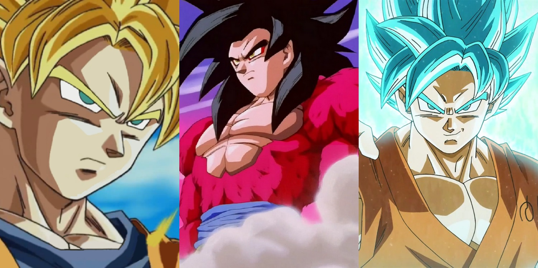 Goku Super Saiyan Transformations 1 10 | www.pixshark.com ...