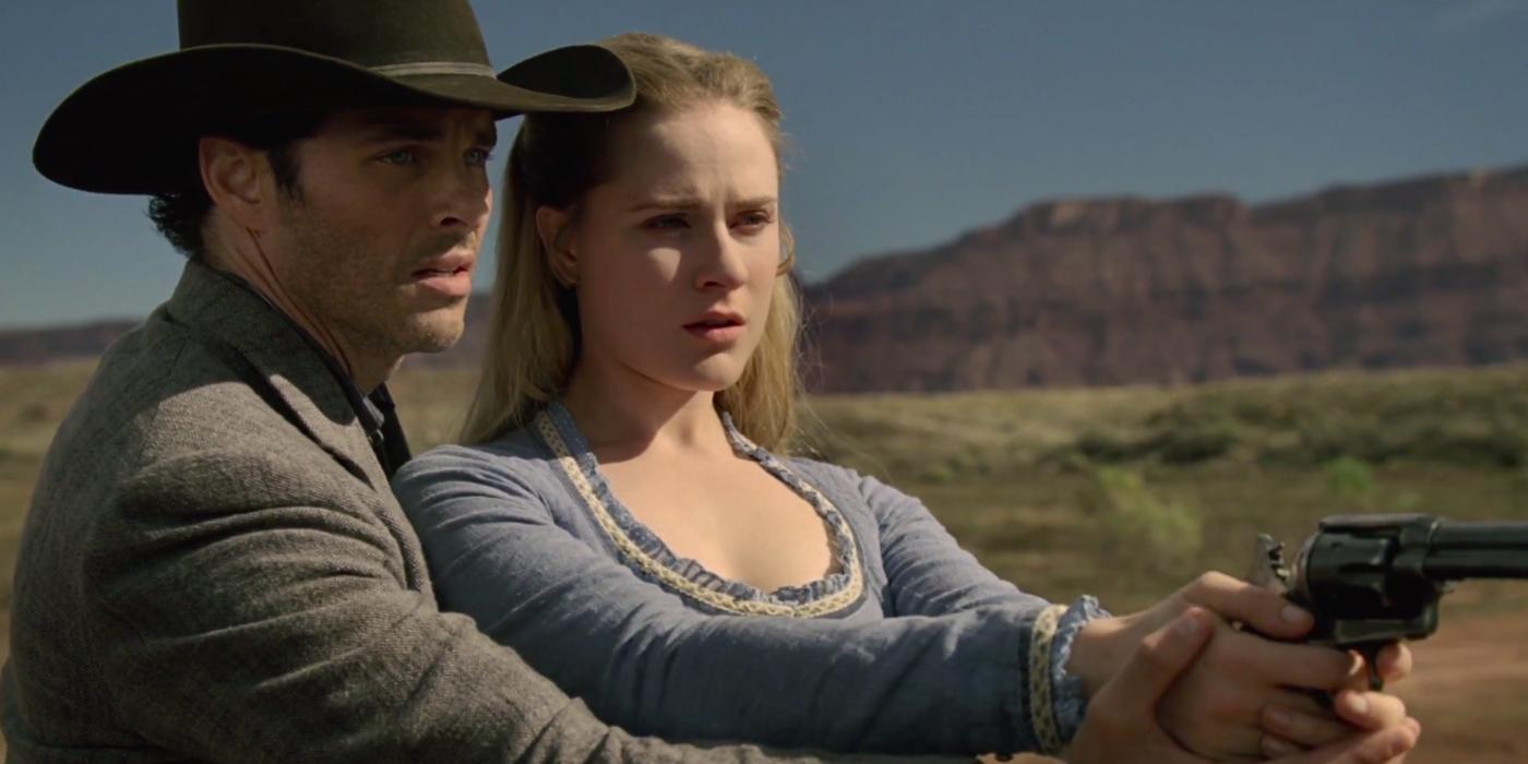 Westworld Dolores Evan rachel Wood Teddy James Marsden
