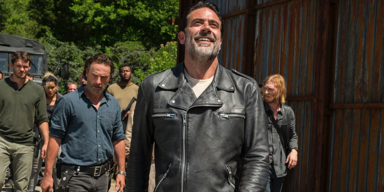 Andrew Lincoln Jeffrey Dean Morgan and Austin Amelio in The Walking Dead Season 7