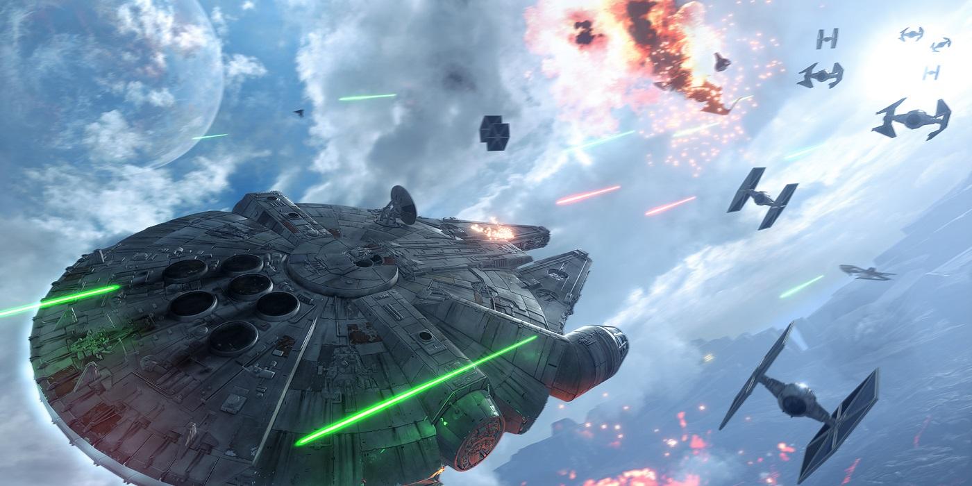 Star Wars Battlefront with Millennium Falcon