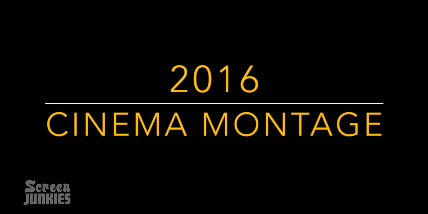The Year in Movies 2016 Supercut title card