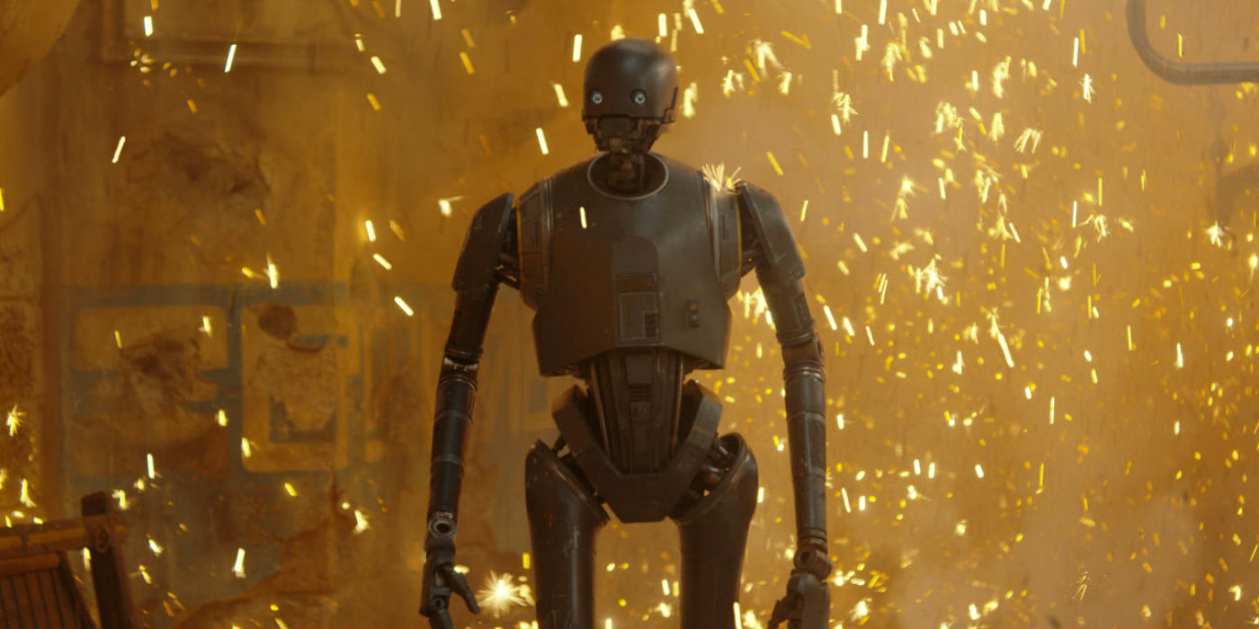 Alan Tudyk as K-2SO in Rogue One: A Star Wars Story