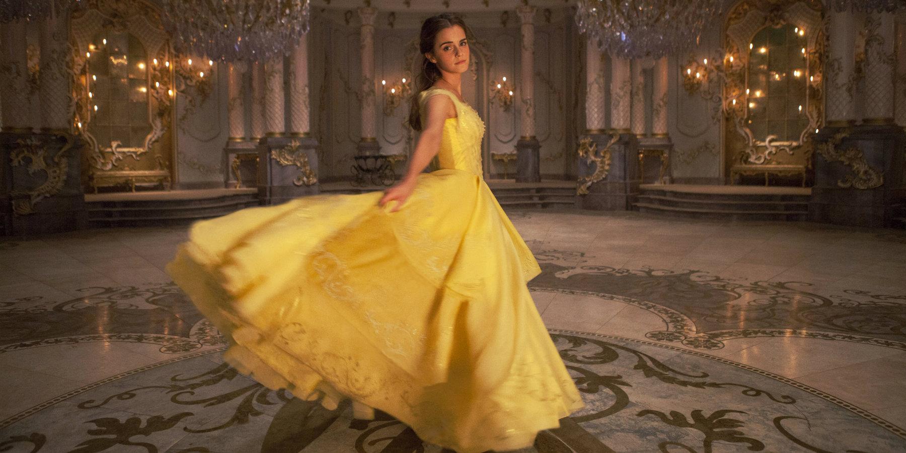 Beauty and the Beast 2017 Emma Watson Belle Dress