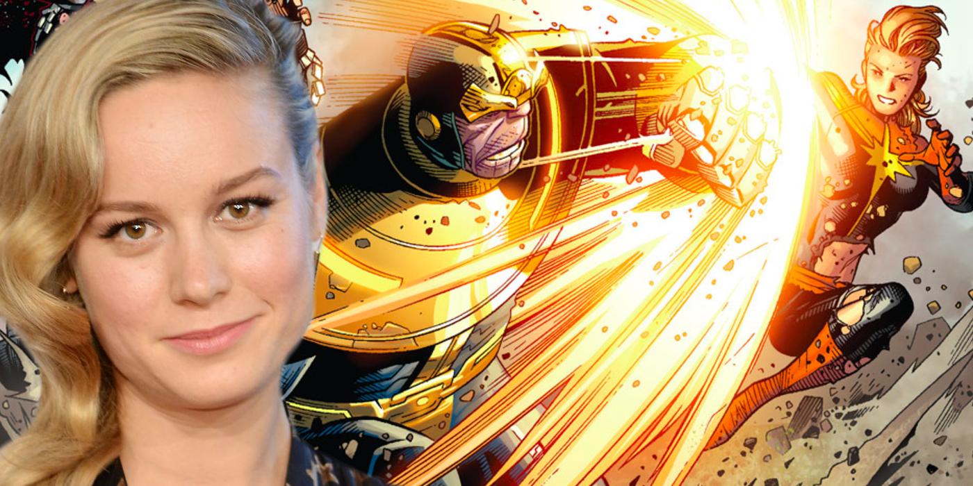 Brie Larson Captain Marvel vs Thanos Avengers Infinity War