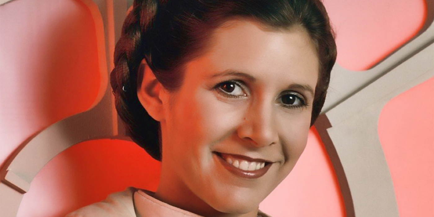 Carrie Fisher Princess Leia Smile