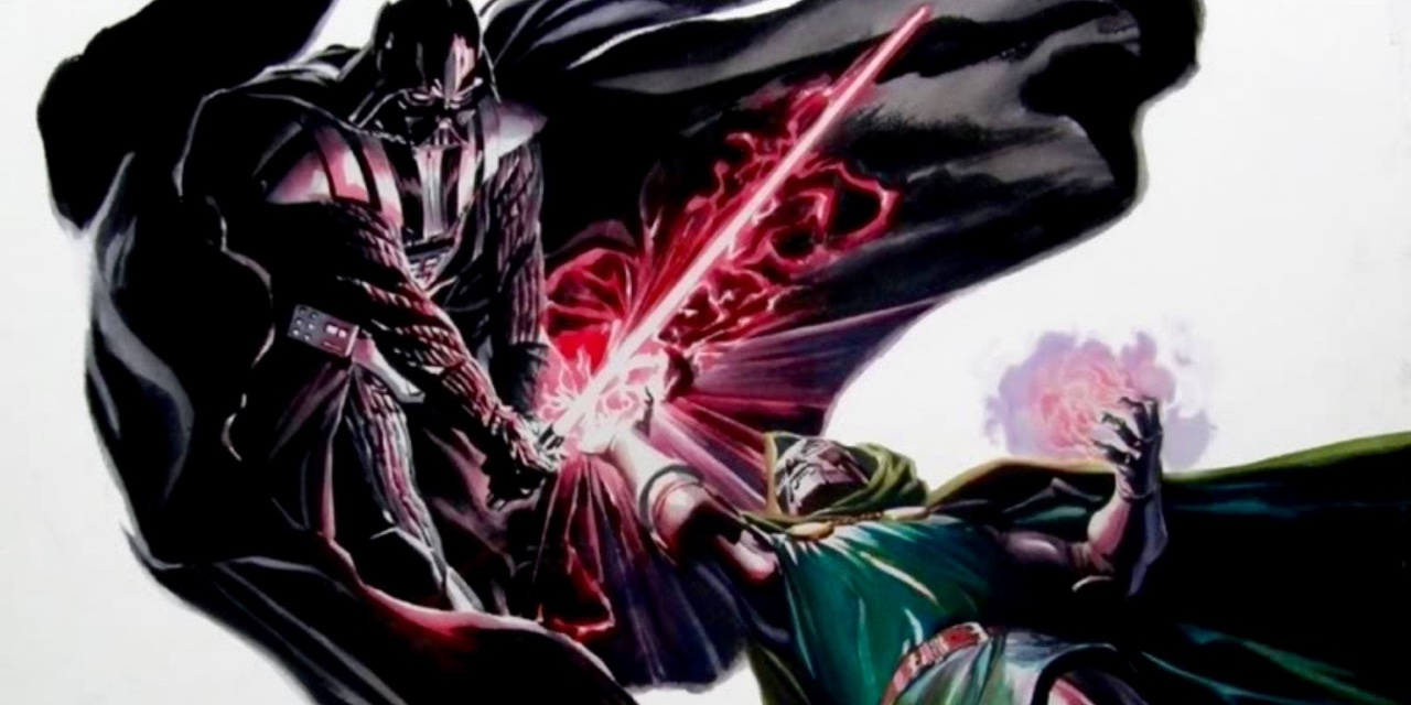 Darth Vader fighting Doctor Doom