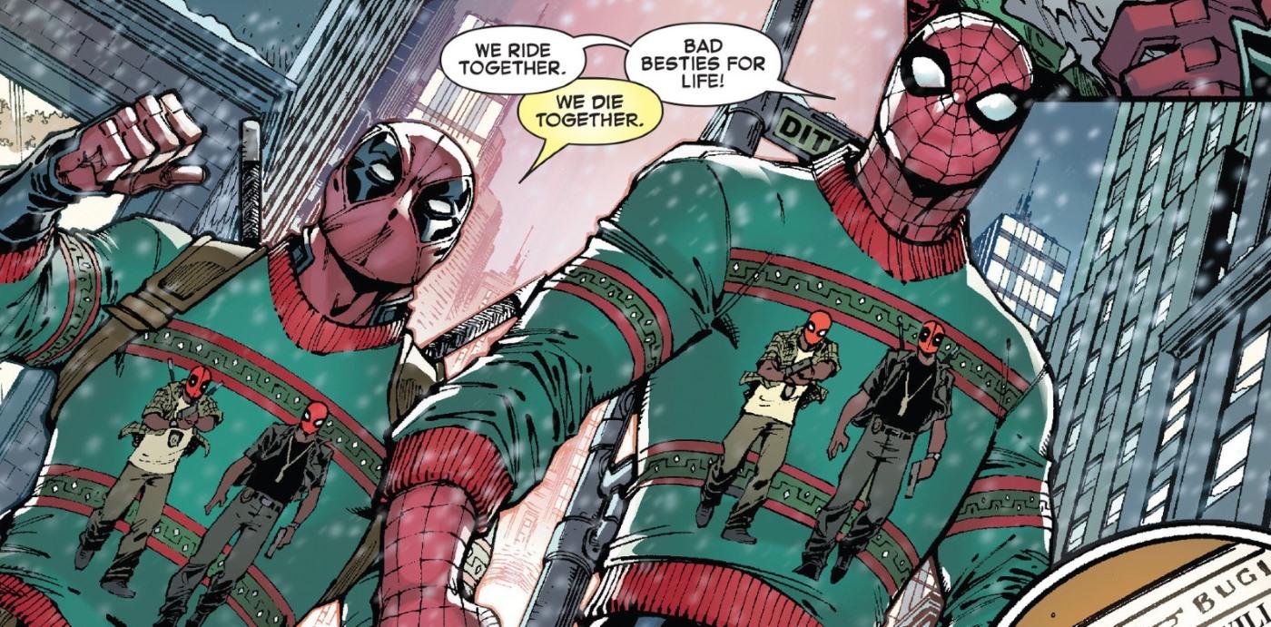 Deadpool Spiderman Christmas Sweaters