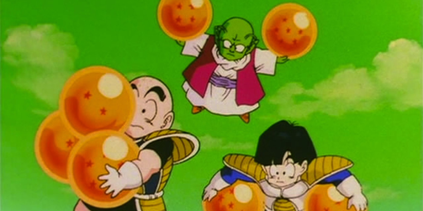 Dende Krillin And Gohan With Dragon Balls