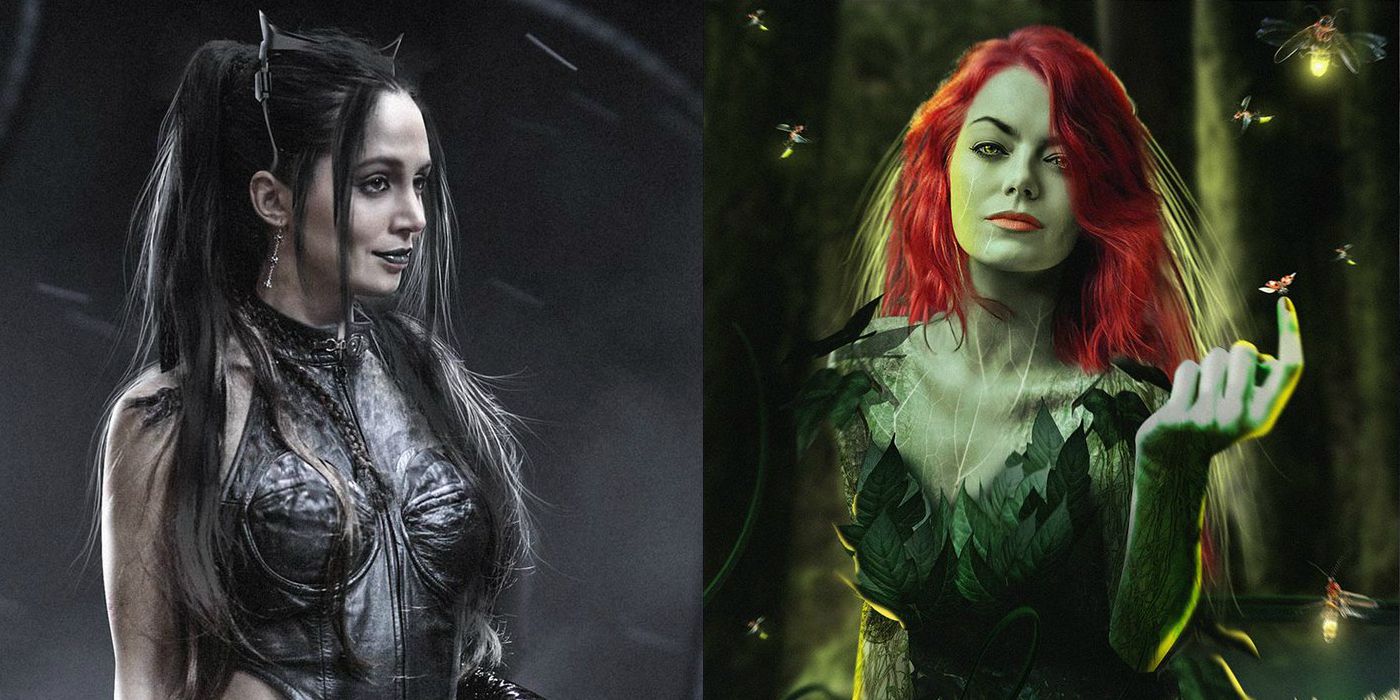 Eliza Dushku and Emma Stone as Catwoman and Poison Ivy for Gotham City Sirens