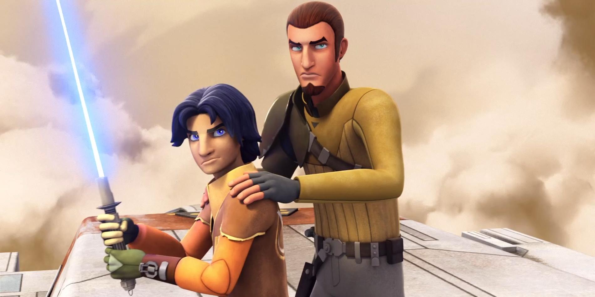 Ezra Bridger and Kanan in Star Wars Rebels