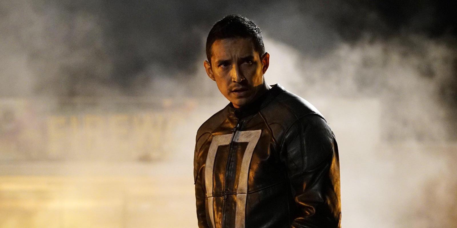 Gabriel Luna as Robbie Reyes Ghost Rider in Agents of Shield season 4