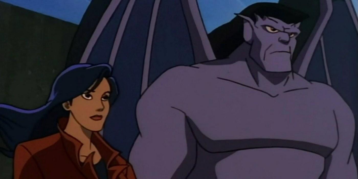 Elisa Maza and Goliath in Gargoyles.