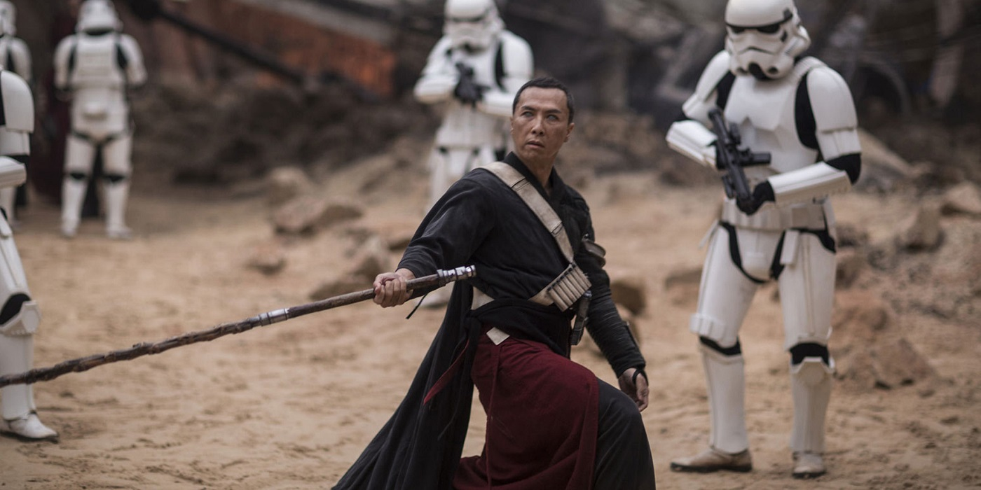 Jedha Staff Stormtroopers Donnie Yen Chirrut Imwe Star Wars Rogue One