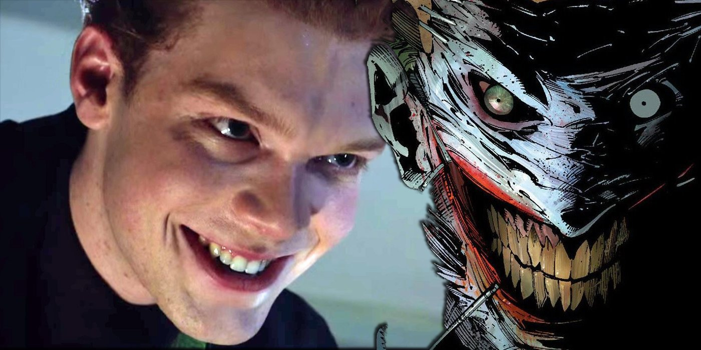Gotham Jerome Posts Faceless Joker PIcture