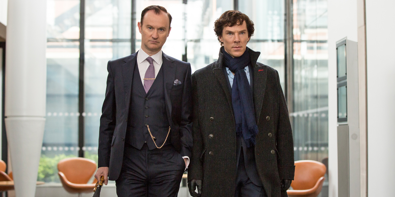 Mark Gatiss and Benedict Cumberbatch in Sherlock Season 4