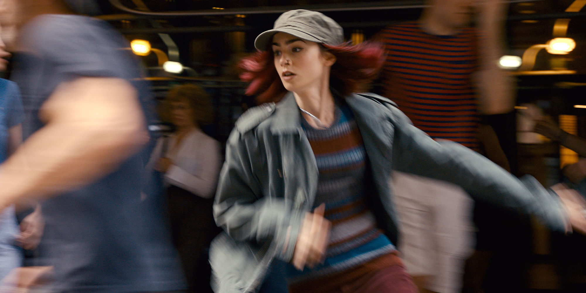 Okja Images Bong Joon-ho Lily Collins Red