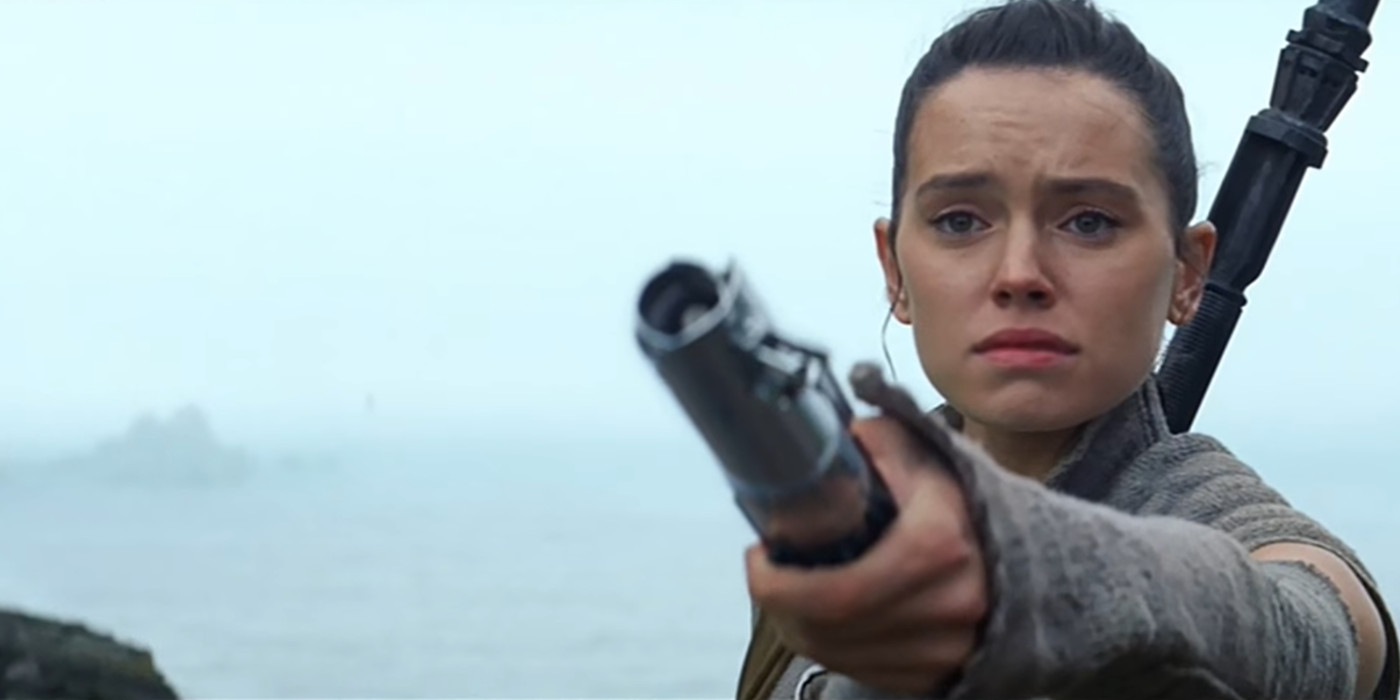 Star Wars: Rey Gives Luke the Lightsaber