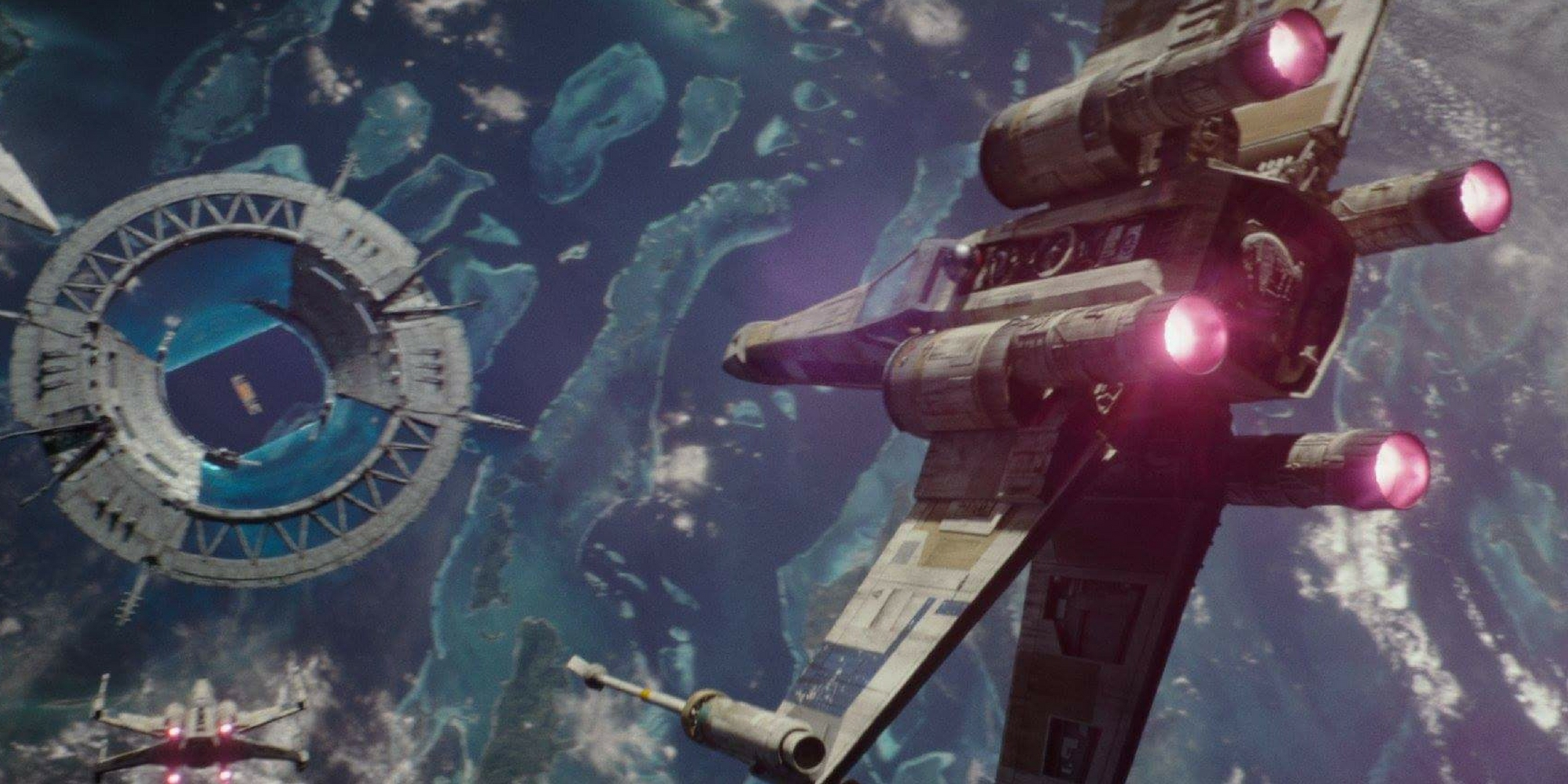 Rogue One A Star Wars Story - X-Wing at Scariff Shield Gate