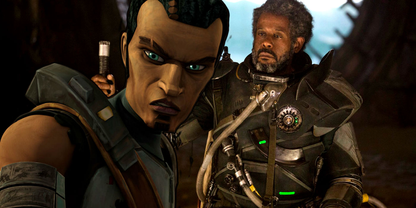 Saw Gerrera in Clone Wars and Rogue One