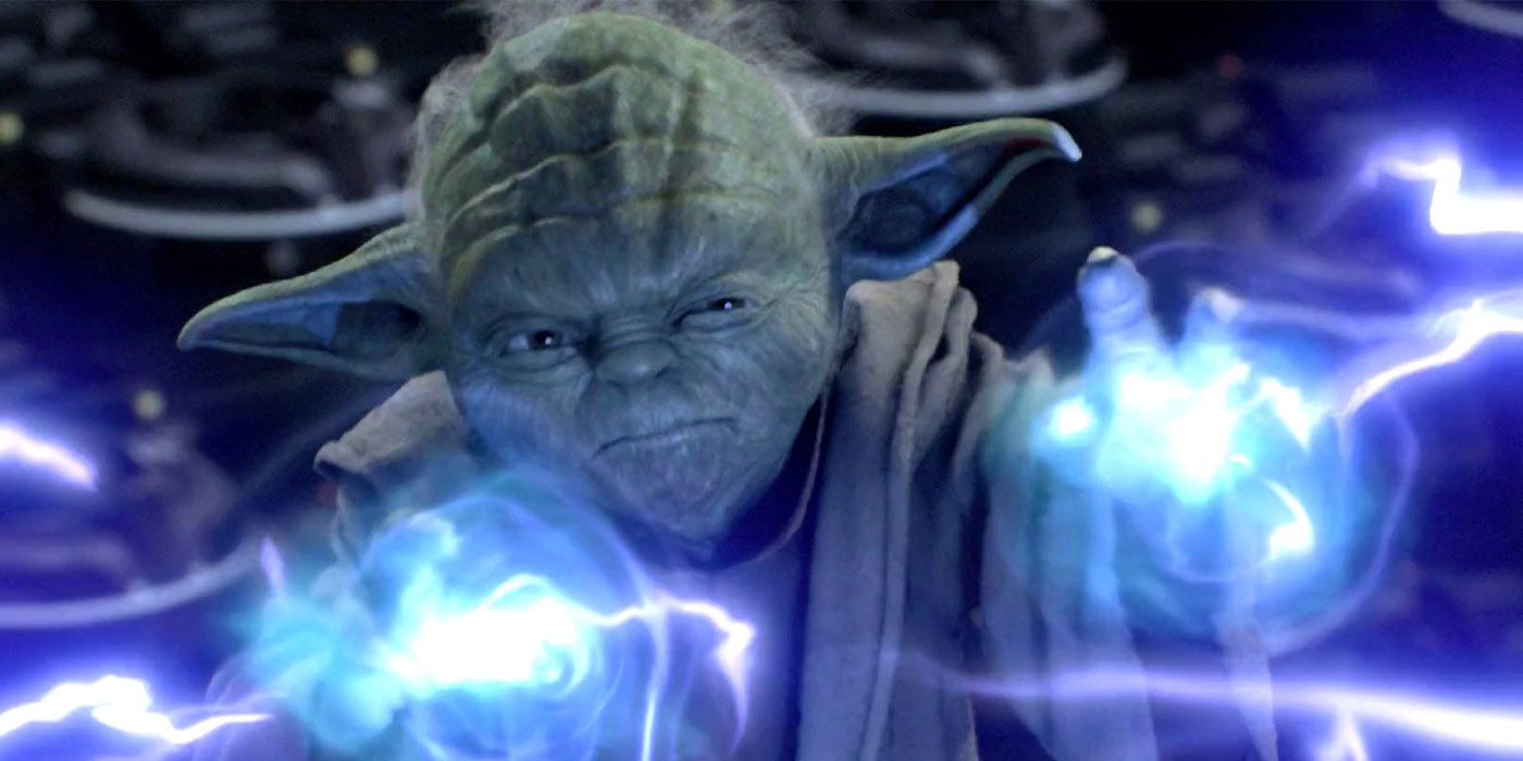Yoda Force Lightning Featured