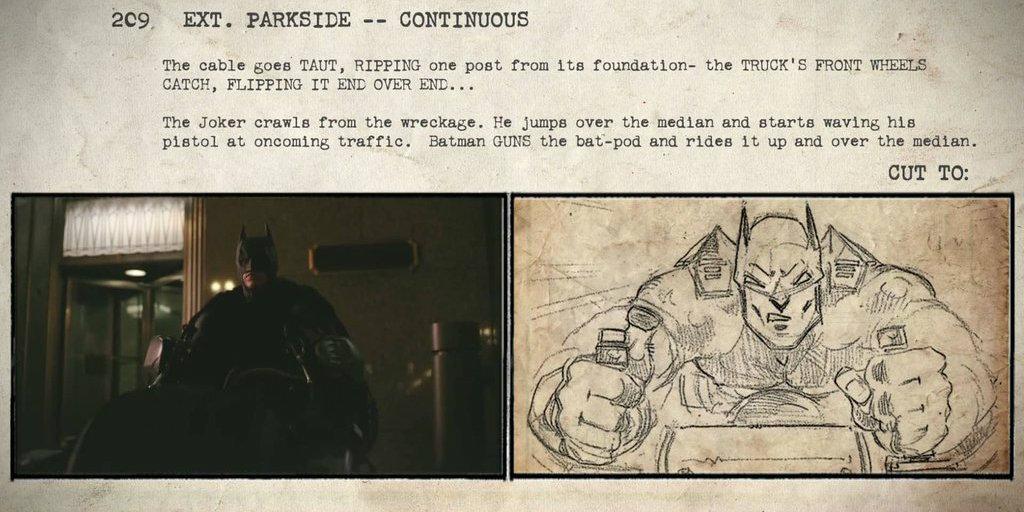 The Dark Knight - Storyboard vs. final movie