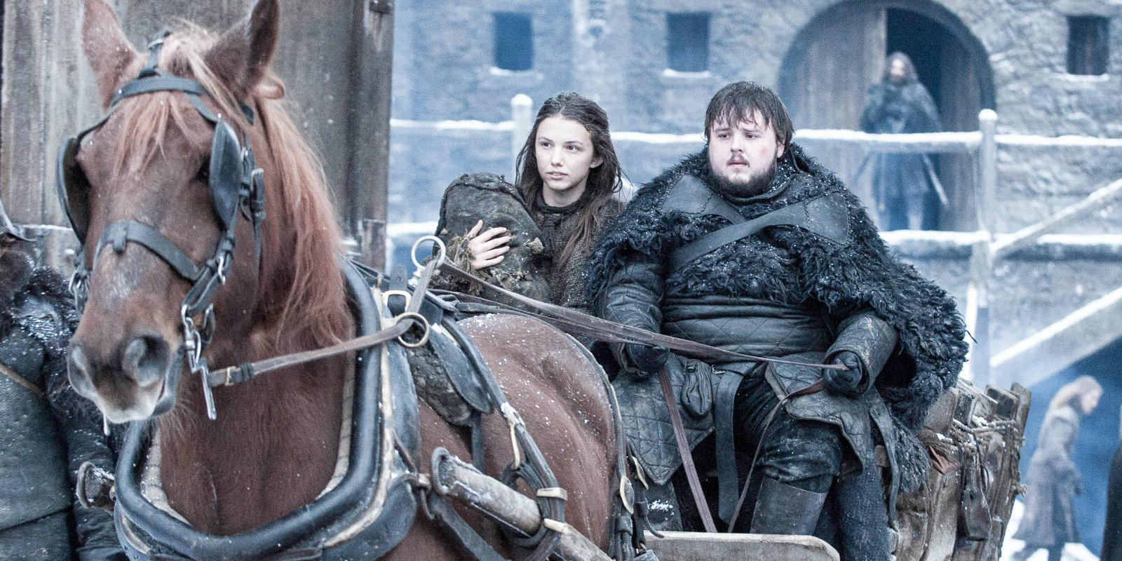 Game of Thrones season 6 - Sam and Gilly
