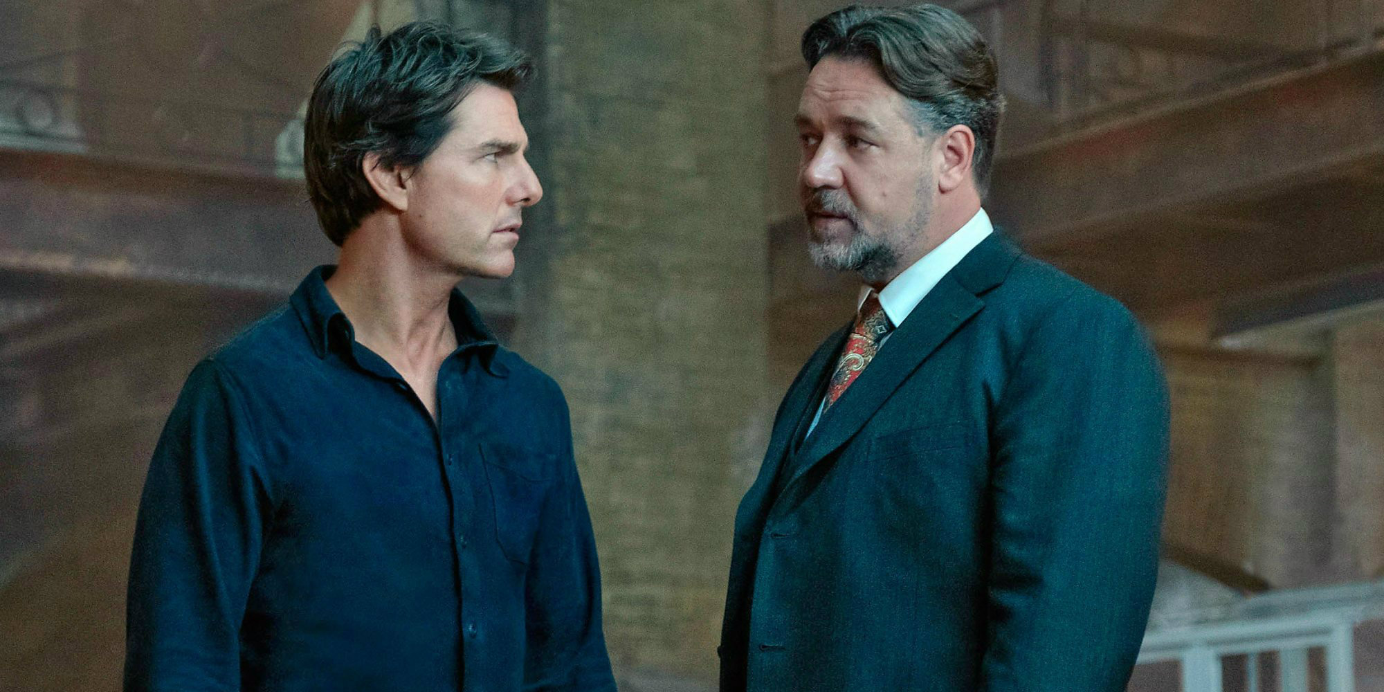 The Mummy - Tom Cruise and Russell Crowe (as Jeyll)